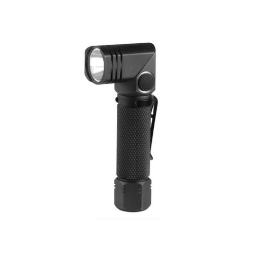 耐朗USB充电强光手电筒轻量便携防水带磁铁夹子迷你转角手电B74